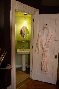 robe on door