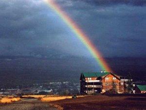 Syringa Lodge Rainbow after Rainstorm