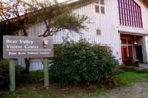 Bear Valley Visitor Center Point Reyes National Seashore sign