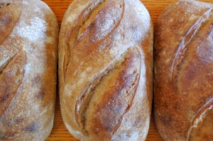 fresh baked bread loaves