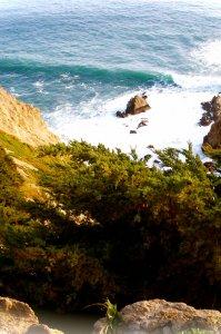 cliffside waves