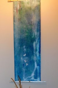 abstract art and ikebana