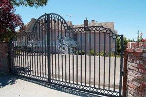 A driveway gate