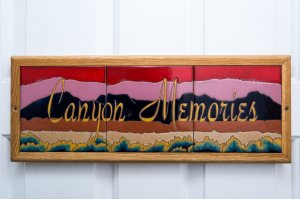 Canyon memories tile room sign