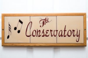 the conservatory room sign