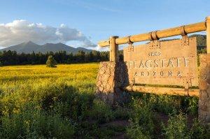 1882 Flagstaff Arizona sign