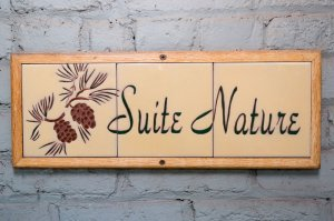 Suite Nature tile room sign