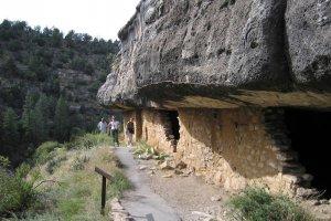 old brick walls beside trail