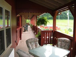 Patio and balcony view