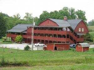the back of the Barn Inn