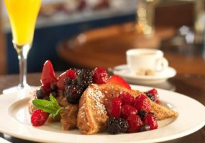 Summer Creek Inn Breakfast french toast and fruit