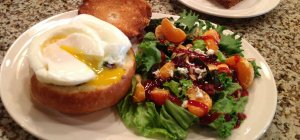 Summer Creek Inn Breakfast eggs and salad