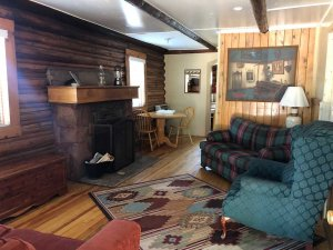 sitting area in cabin 4