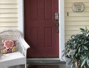 Private bedroom porches faces garden
