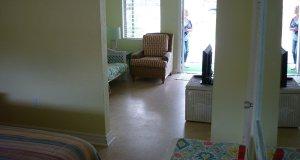 view of front door through livingroom