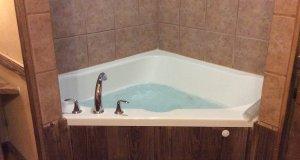 The corner jacuzzi tub