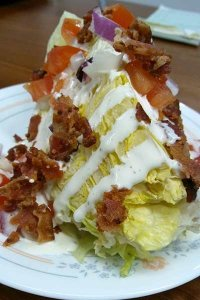 Salad with bacon bits