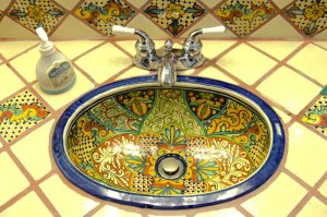 A decorative sink