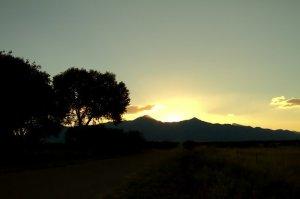A bright sunrise