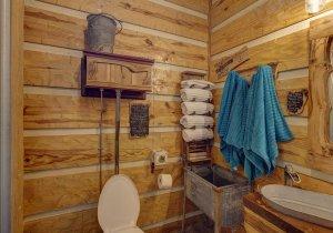 Hillbilly Hiltin Cabin Toilet