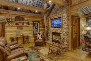 Hillbilly Hiltin Cabin Living Room