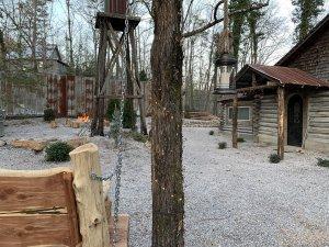 Outside Kemp Cabin