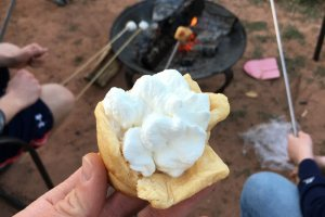 Moab Rim Campark Amenities ice cream by the fire