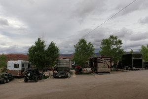 Moab Rim Campark RV Sites RVs trees