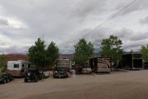 Moab Rim Campark RV Sites RVs trees