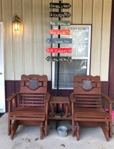 Chairs on the front porch His Fingerprints Photography