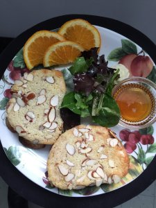 Haven by the Sea Breakfast almond bread and oranges