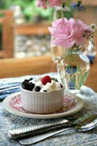 Berries in whipped cream