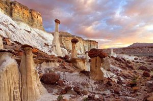 view of hoodoos