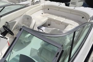 Seating for 10 on 21' Campion Ski boat