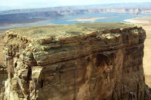 arial view of tower butte