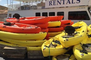 Kayaks for rent Antelope Point Marina