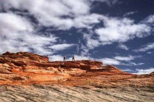 beautiful red rocks and blue skies