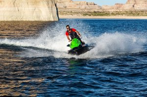 view of lake powell from watercraft
