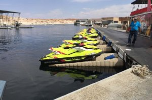 personal watercraft at dock lake powell