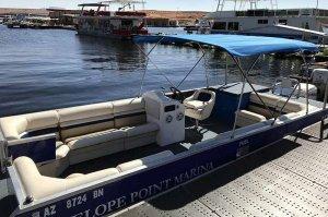 8m deck boat rental lake powell