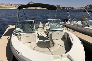 bow of 19' Open-bow Wahweap Marina Ski Boat Rental Lake Powell