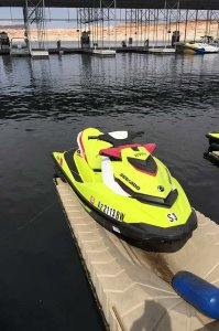closeup of personal watercraft