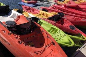 kayaks for rent on Lake Powell