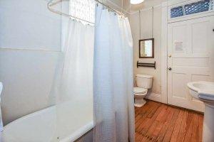the bathroom tub