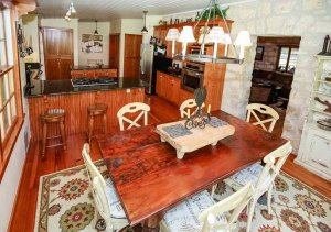 the dining table and room