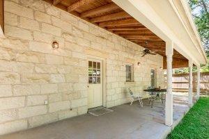 Porch and door