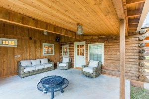 Back Porch and Firepit