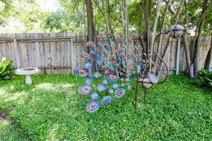 outdoor peacock decoration