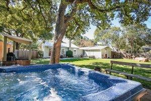 Hot Tub and Backyard