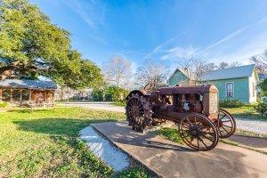 Agarita Haus Front Antique Tractor